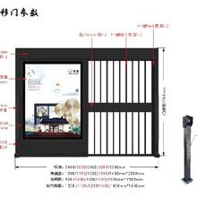 信陽人臉識別系統廣告門安裝方案鄭州三盾弱電,自動平移門圖片
