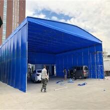 連云港銷售大型伸縮倉庫棚規格圖片