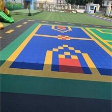 孟州籃球場軟塑懸浮拼裝地板廠家圖片