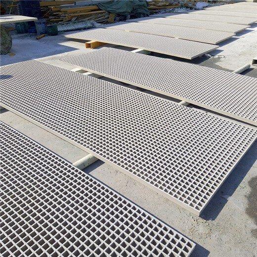 天津塘沽玻璃鋼格柵色澤光潤,玻璃鋼地溝蓋板