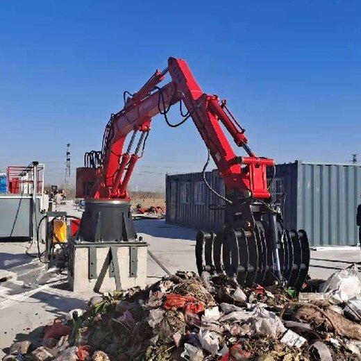安慶提供垃圾轉運機械手價格,固定式多關節液壓機械臂抓手