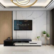 江門蓬江區家裝竹木纖維板裝修包設計,竹炭墻板圖片