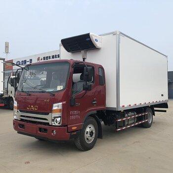湖北冷鏈運輸車廠家江淮6米8冷藏車