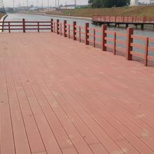 明太塑木地板廠家,哈爾濱14025圓孔塑木地板量大從優圖片