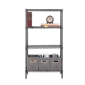 層架美之高家用4層置物架臥室書房承重強臥室書房收納架客廳收納架