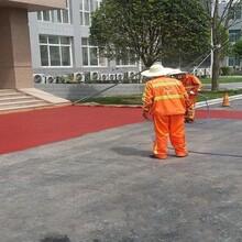 兆基彩色瀝青施工,鄭州中牟彩色防滑路面彩色路面圖片