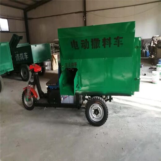 承接潤豐養殖投料車造型美觀,攪拌一體撒料車