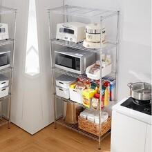 多功能置物架家用多功能廚房置物架金屬置物架墻角置物架廚房鍋具置物架圖片