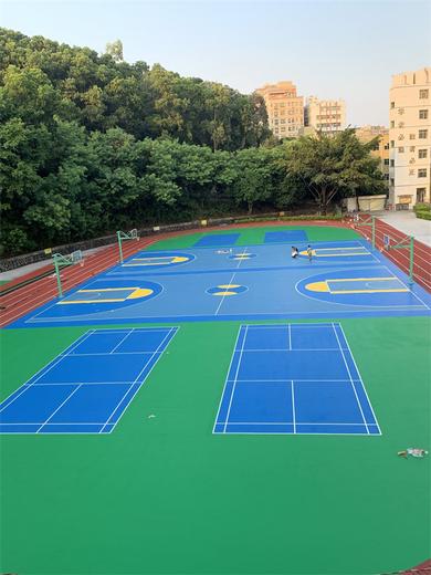清溪镇丙烯酸硅PU篮球场工程