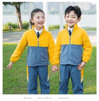 艾咪天使新款撞色冲锋衣中小学团体服班服批发