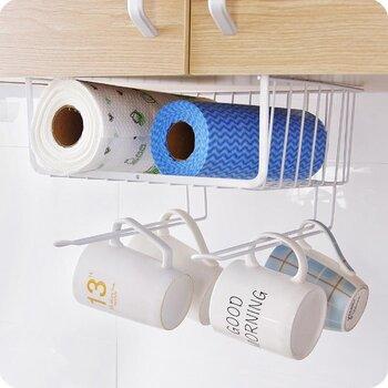 美之高廚衛掛鉤廚房櫥柜隔層掛籃櫥柜衣柜辦公桌收納小物件隔層掛架