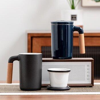瓷来源茶具礼品商务礼品定制logo办公杯个人杯礼品杯