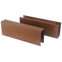 佛山U型鋁方通批發訂購木紋鋁條柵鋁格柵方通圖片