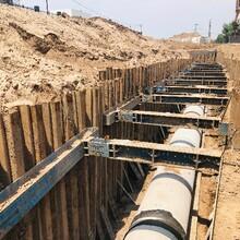 清徐鋼板樁支護、房建基坑支護、橋承臺鋼板樁支護圖片