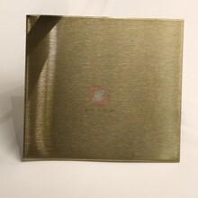 高比304不銹鋼短發紋彩色板加工定制不銹鋼雪花砂香檳色定做圖片