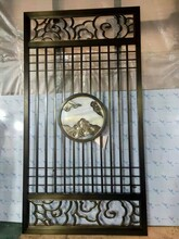 濰坊拉絲仿古銅不銹鋼隔斷屏風定制圖片