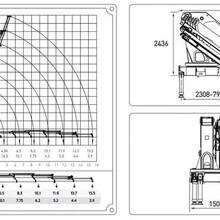 不超重解放随车吊折臂16吨前四后八解放随车吊12000×2550×3850图片