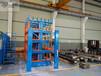 浙江杭州圓鋼貨架伸縮懸臂式結構分類擺放幾十種類型的圓鋼