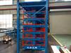 山東濰坊很多型材存放使用伸縮懸臂式貨架擺放整齊省空間