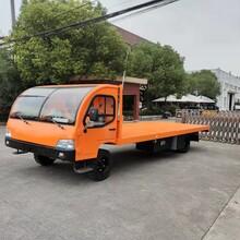 电动载货车10吨载重平板货车图片