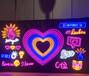 戶外門頭廣告牌亞克力字LED不銹鋼門頭招牌戶外霓虹燈LED發光字