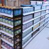 超市货架展示架便利店单双面食品架子母婴文具店钢木货架定做