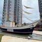 大型戶外景觀裝飾帆船兒童游樂海盜船打卡拍照船圖片