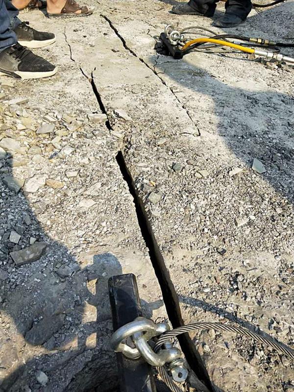 搞硬石頭的代替爆破機械西藏日喀則