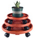 現貨供應帶輪托盤移動圓形塑料輪托加厚滾輪花盤底座帶萬向輪