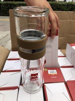 西安泡茶玻璃杯双层泡茶师水杯茶仓希诺口杯