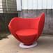PeterHarvey碗造型休閑椅軟包布藝旋轉椅心型酒杯椅玻璃鋼單人沙