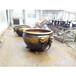 紫銅工藝品鑄銅水缸擺件故宮太平缸園林銅裝飾