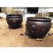 故宮缸雕塑純銅大水缸擺件黃銅大缸裝飾品祥獅工藝品
