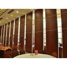 深圳酒店活動隔斷包廂折疊移動隔音墻屏風門圖片