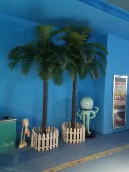 山西太原市厂家仿真大型椰子树假椰子树树脂棕榈树室内外安装