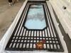 藝術不銹鋼山水夾絹玻璃屏風可做半透或全透效果