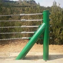 景區公園鋼絲繩繩索防護欄廠家鋼絲繩欄桿公路河道纜索護欄圖片