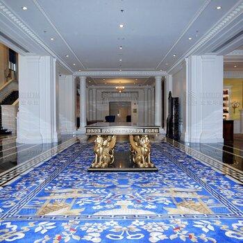 酒店大厅手工地毯定制新西兰羊毛地毯b1级阻燃地毯