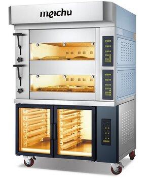 美廚商用電烤箱MOE2412S歐款組合爐二層四盤電烤箱帶12層醒發箱