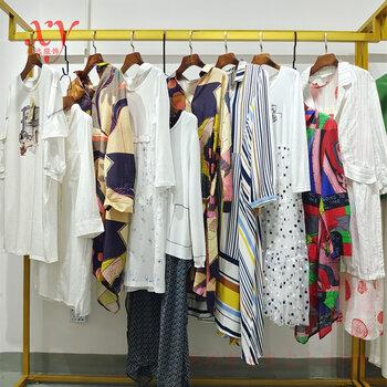 廣州布衣品牌素言2021秋款文藝休閑棉麻女裝針織小衫連衣裙