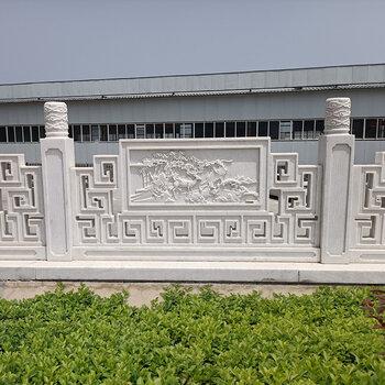 汉白玉石栏杆雕刻厂家-供应陇南市汉白玉栏杆