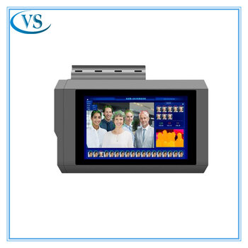 8寸人臉識別熱成像測溫儀支持多人快速測溫自帶黑體測溫儀