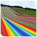 旱雪滑道設施大型彩虹滑道鋪設面積七彩滑道產品介紹