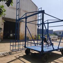 橋梁排水管安裝吊籃--橋梁外側施工臺車--河南厚榮路橋設備圖片