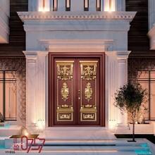 匯盈0757古典歐式鑄鋁門、工程門、別墅/自建房雙開入戶門圖片