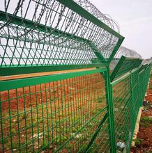 花園塑料柵欄/小區草坪圍欄/浸塑鋼板網護欄圍墻欄桿圖片