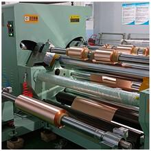 锂电池铜箔分切机PI膜铜箔分条机电解铜箔切条机电子铜箔分切机图片