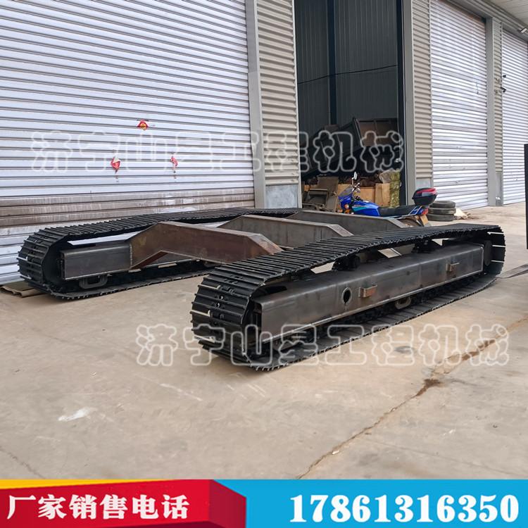 履带输送钢制履带底盘无线遥控履带底盘回旋式底盘2-20吨