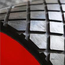 美奂滚筒抢修现场包胶耐磨菱形橡胶板陶瓷胶板包胶图片