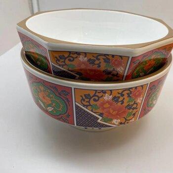 上海壹粤密胺特色面碗餐具,日式多边形创意拉面碗定制